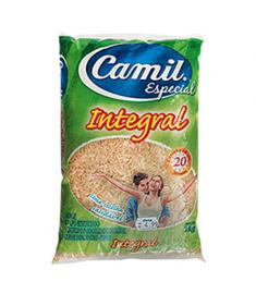 Arroz Camil integral pacote 2 kg