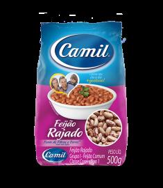 Feijão rajado Camil pacote 500 g
