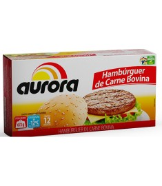 Hambúrguer bovino Aurora caixeta 12 x 56 g