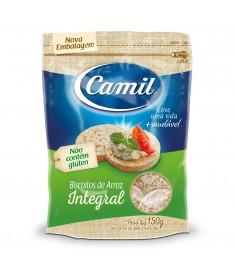 Biscoito de arroz Camil integral pacote 150 g